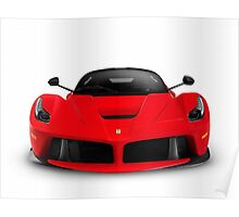 Ferrari F150 LaFerrari supercar sports car front view art photo print Poster