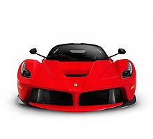 Ferrari F150 LaFerrari supercar sports car front view art photo print Photographic Print