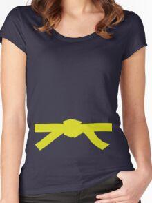 Judo Yellow Belt Women's Fitted Scoop T-Shirt