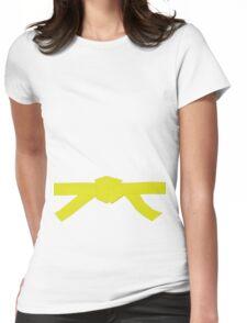 Judo Yellow Belt Womens Fitted T-Shirt