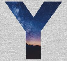 The Letter Y - night sky Baby Tee
