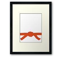 Judo Orange Belt Framed Print