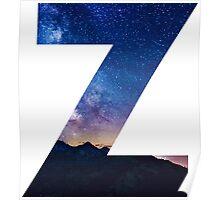 The Letter Z - night sky Poster