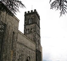 Barga, Italy church by Stephanie  Wiese
