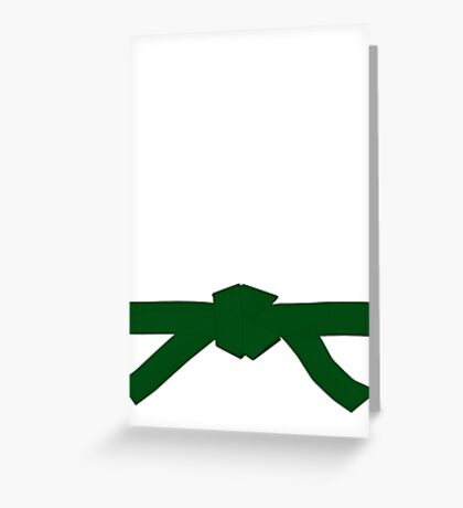Judo Green Belt Greeting Card