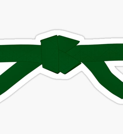 Judo Green Belt Sticker