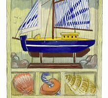 Seaside Memories Watercolour illustration/sketch by naffarts
