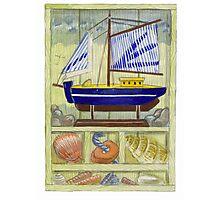 Seaside Memories Watercolour illustration/sketch Photographic Print