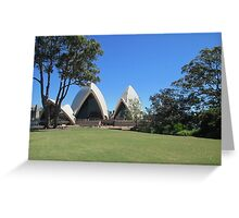 Sydney Opera House from the Botanical Garden. Greeting Card
