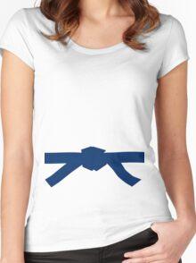 Judo Blue Belt Women's Fitted Scoop T-Shirt