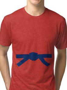 Judo Blue Belt Tri-blend T-Shirt