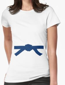 Judo Blue Belt Womens Fitted T-Shirt