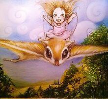 Flying Squirrel Airline...next stop Dreamland by Raffaella Picotti