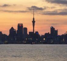 Auckland Skyline at Sunset Sticker