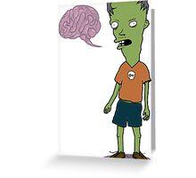 Zombie Kid Greeting Card