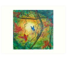 Butterfly in the light Art Print