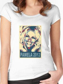 Pam for President! Women's Fitted Scoop T-Shirt