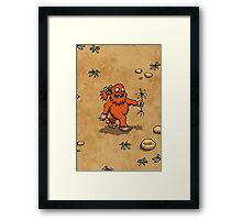 Handsome Yowie has a Flower Framed Print