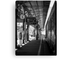 Waiting on the 5:20 from Ventimiglia to Cannes Canvas Print