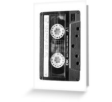 Retro 80s Cassette Tape  Greeting Card