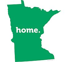 Minnesota Home Green Photographic Print