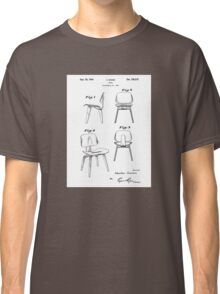 Mid Century Eames Patent Drawings for DCW Molded Plywood Chair  Classic T-Shirt