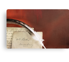 Period Letter Canvas Print