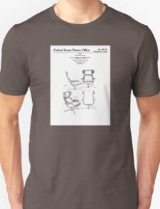 Iconic Eames Recliner/Lounger Lounge Chair Patent Drawings T-Shirt