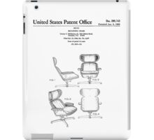 Iconic Eames Recliner/Lounger Lounge Chair Patent Drawings iPad Case/Skin