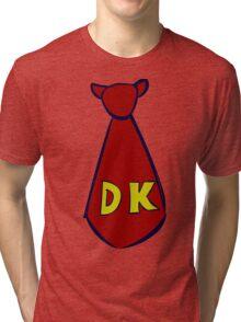 DK Donkey Kong Tie Tri-blend T-Shirt