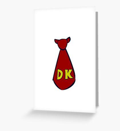 DK Donkey Kong Tie Greeting Card
