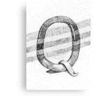 Q Stippling Canvas Print