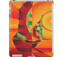 Cubist Junks on A Red Sea iPad Case/Skin