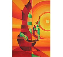 Cubist Junks on A Red Sea Photographic Print