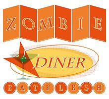 Zombie diner by puppaluppa
