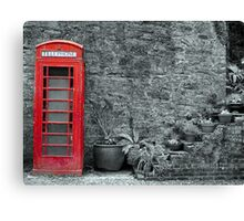 Old telephone Box 2 Canvas Print