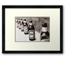 Booze Isolation Framed Print