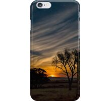Moonset over Mount Remarkable iPhone Case/Skin