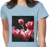 STARRED PINK TULIPS Womens Fitted T-Shirt