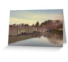 Autumn by the Weir Greeting Card