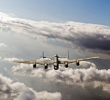 Lancaster sunlit by Gary Eason + Flight Artworks