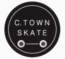 C. Town Skate Small badge Baby Tee