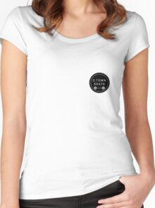 C. Town Skate Small badge Women's Fitted Scoop T-Shirt