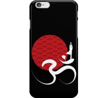 Red Sun, Yoga & Om iPhone Case/Skin