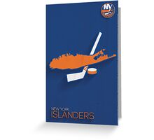 New York Islanders Minimalist Print Greeting Card
