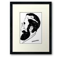 What's on A Man's Mind Framed Print