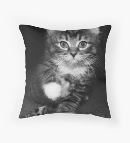 B&W Pepe Portrait Throw Pillow