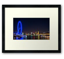 London Skyline at Night Framed Print