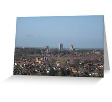 BLue Sky (Leicester March 2009) Greeting Card