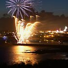 Blue Firework, Plymouth by David Morgan